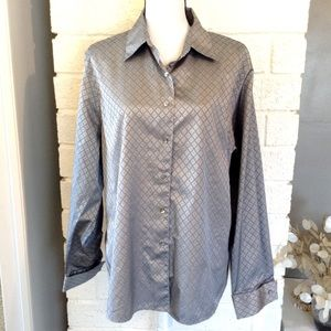 Foxcroft Wrinkle Free Shaped Fit Button Down Shirt